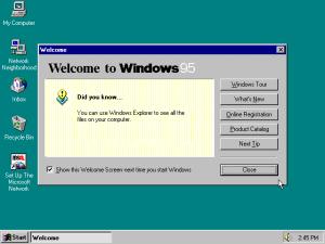 windows 95 welcome screen